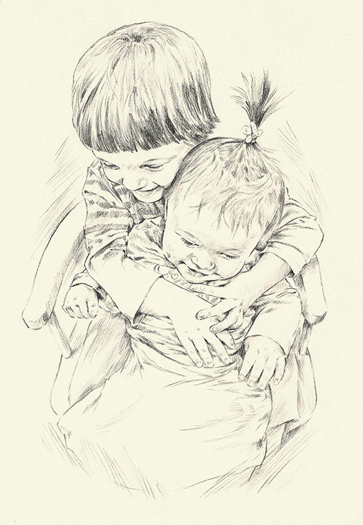 pencil portrait_sally barton_children