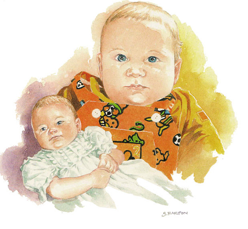 baby portrait_sally barton_watercolour