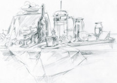 Still Life pencil sketch