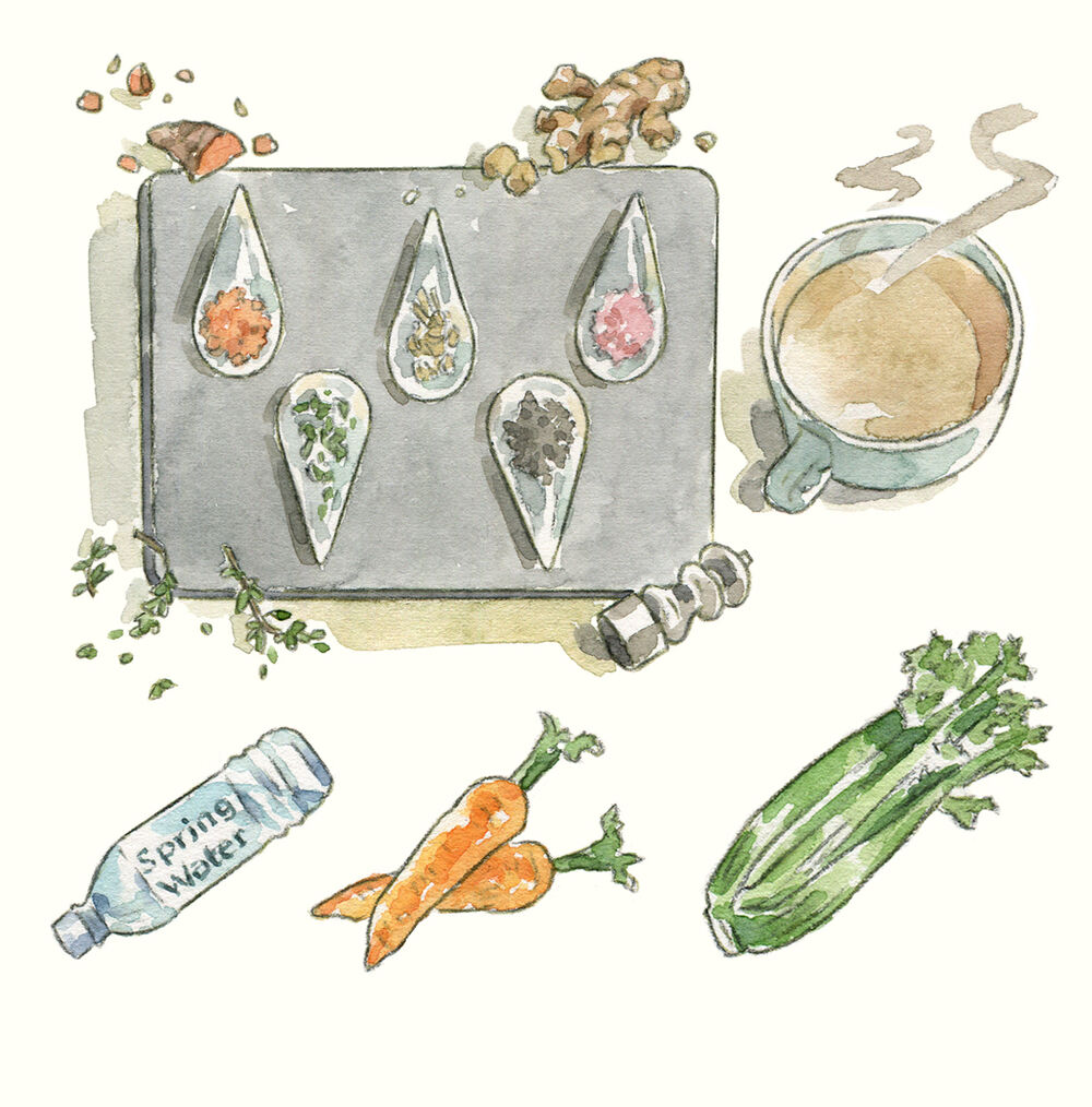 SallyBarton_ingredients_watercolour_stilllife_illustration_InstagramStories