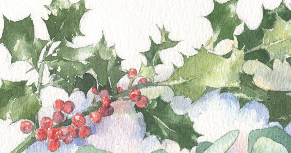 Holly & Eucalyptus, detail