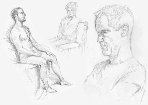 Life Drawing - male sitters
