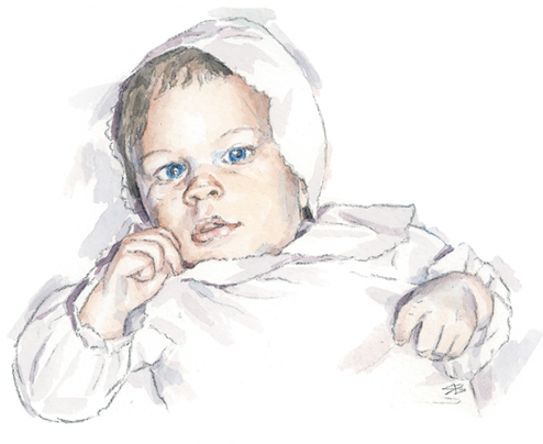 watercolour portrait_sally barton_baby portrait