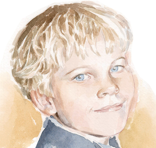 portrait in watercolour_sally barton