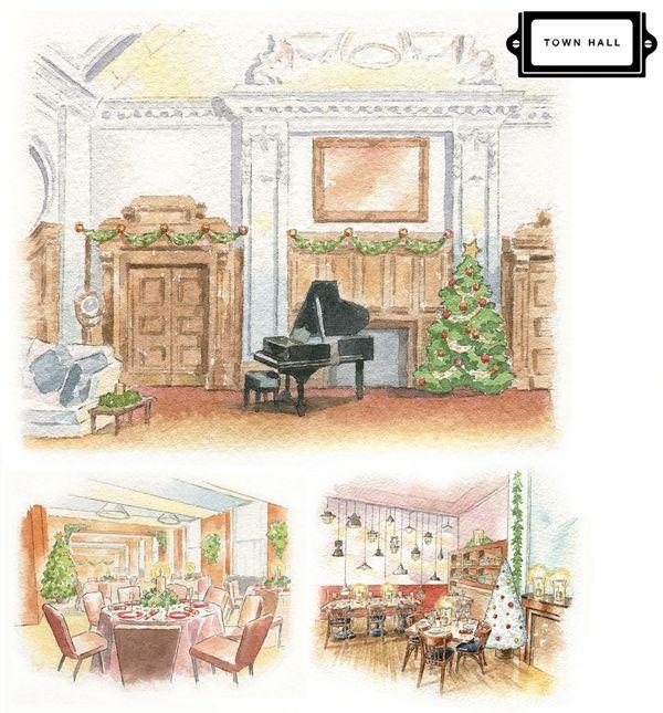 DeMontfortSuite_SallyBarton_Watercolour_houseportrait_TownHallHotel