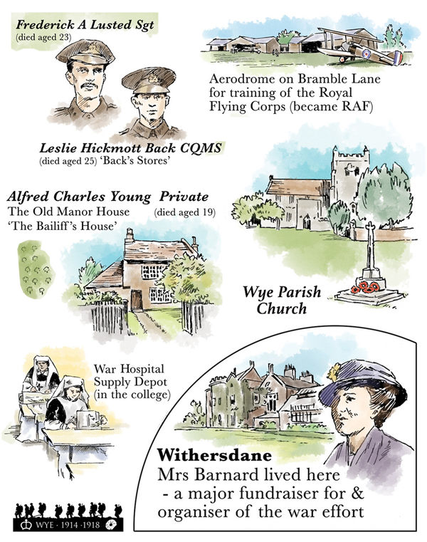 WW1 Armistice centenary illustrations