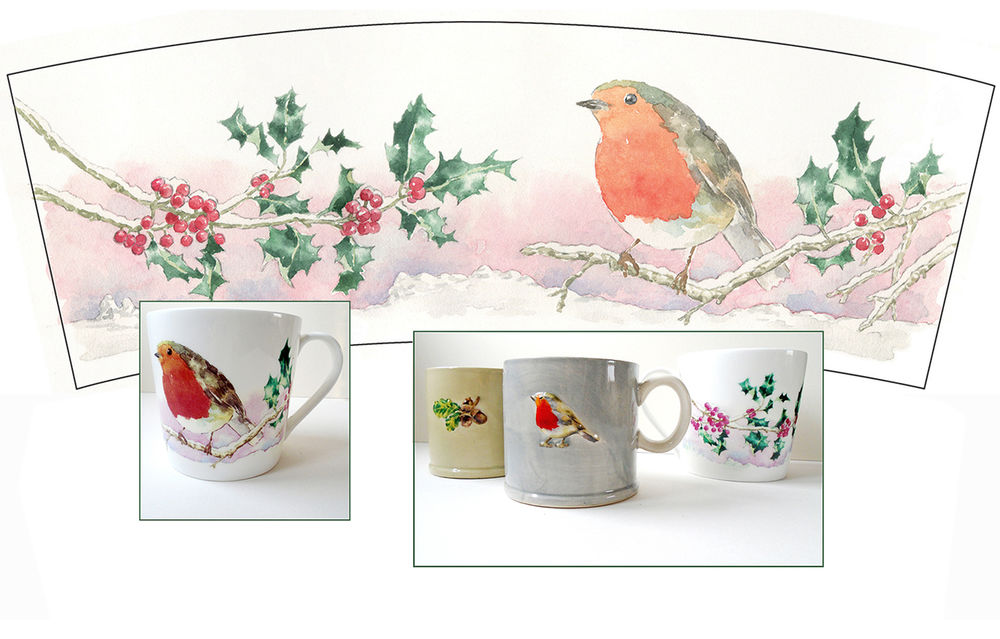 sallybarton_watercolourillustrations_Christmas_robin_Waitrose