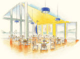 Interior visual for proposed waterfront cafe