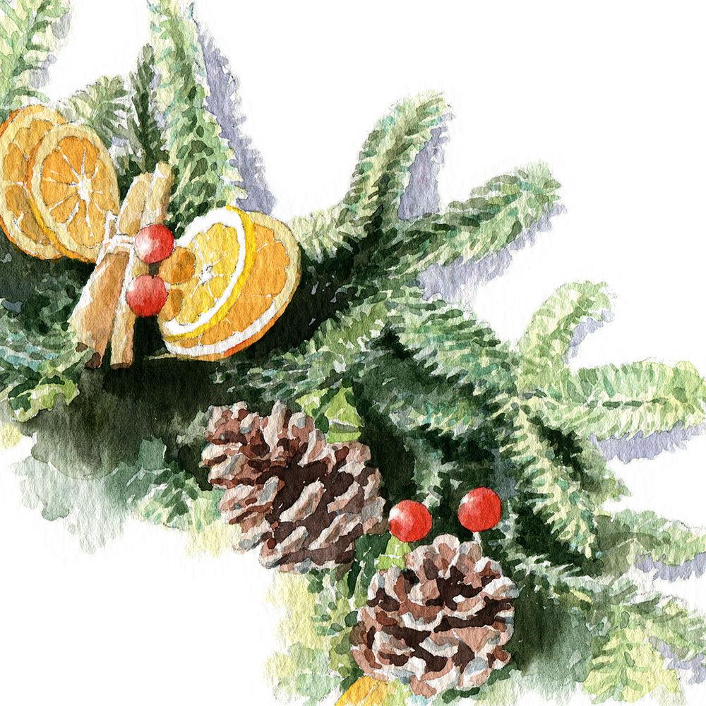 watercolour illustration_sally barton_ChristmasWreath