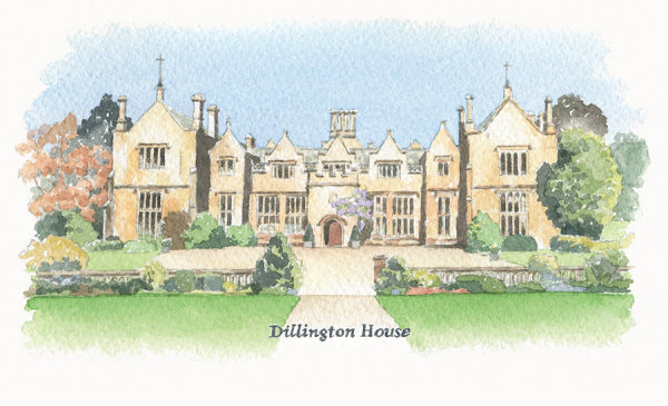 Wedding venue illustration: Dillington House