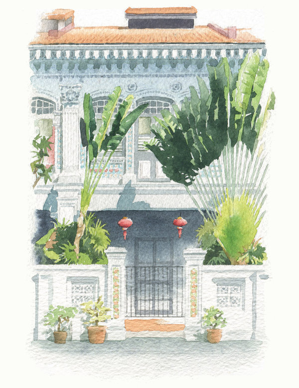 'Commission a house portrait': house in Singapore