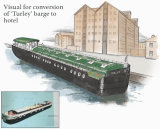 Concept visual for barge conversion