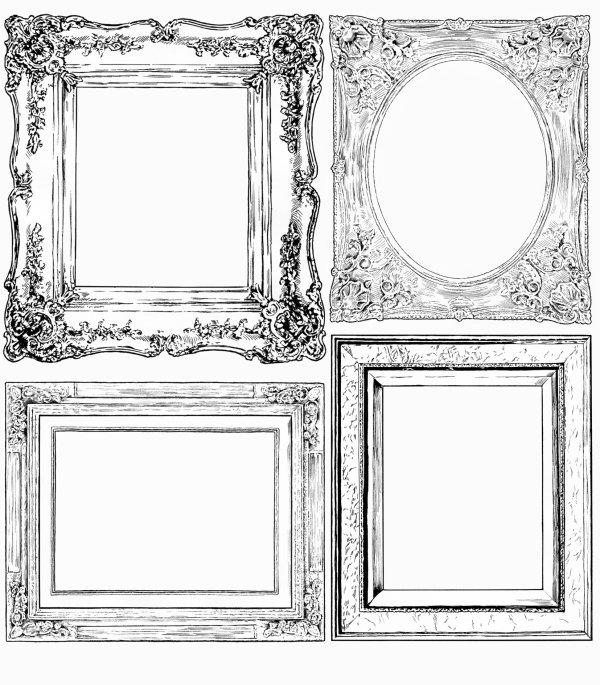 hand drawn frame illustrations