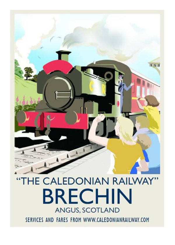 'Caledonian Railway' poster
