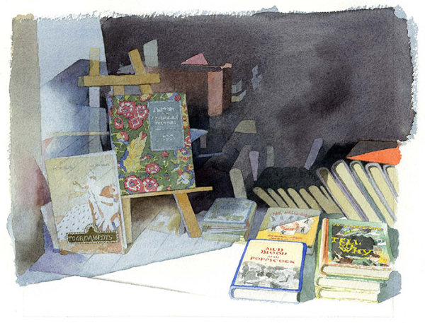 Watercolour illustration_sally barton_antiquarian