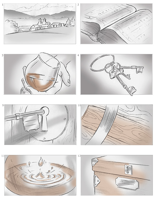 Storyboards for Kininvie whisky, William Grant