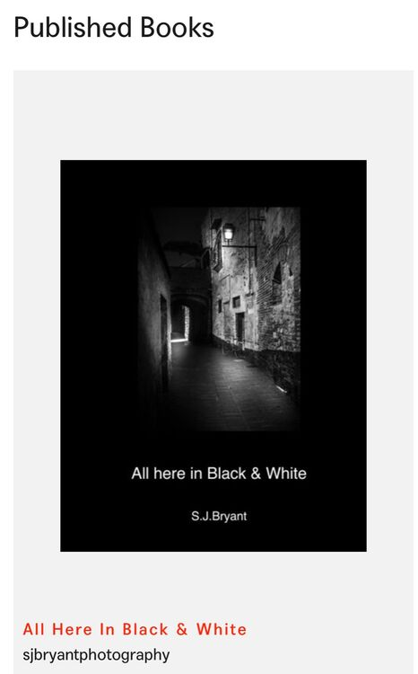 Published - All here in B&W