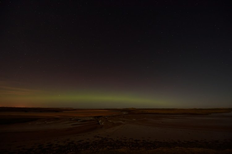 A rare glimse of the Aurora Borealis in Norfolk over Scolt and Gun Hill