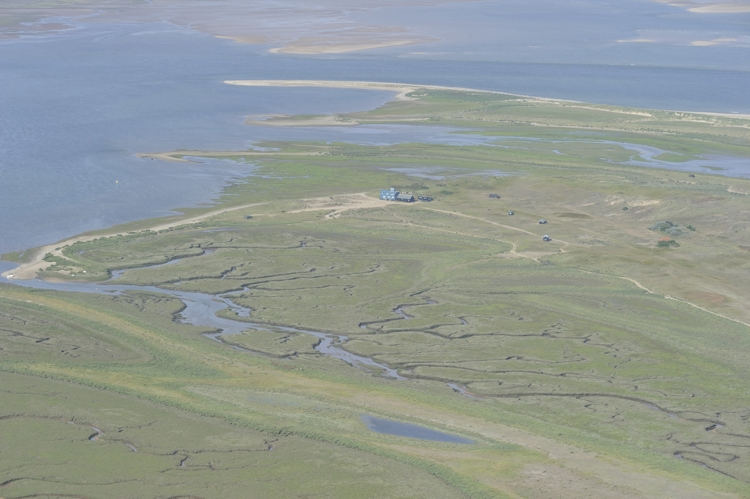 Aerial view of Blakeney Point