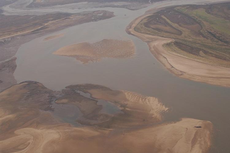 Aerial Brancaster Harbour