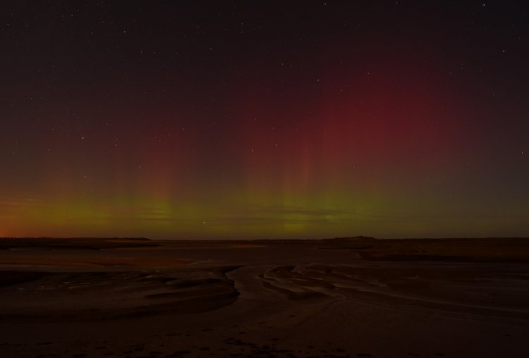 Northern Lights over Scolt and Gun Hill