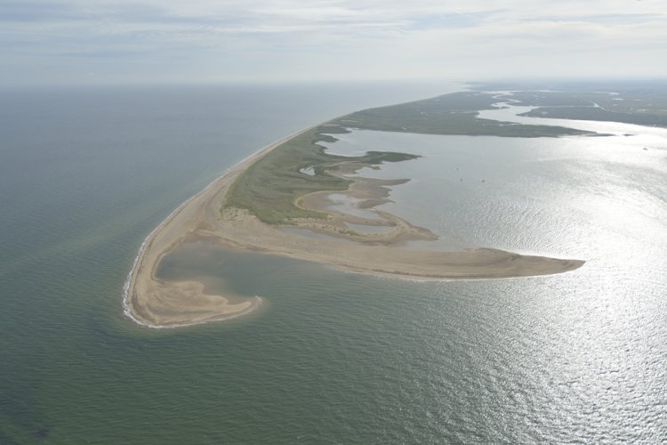 Scolt Head Island Aerial view looking East