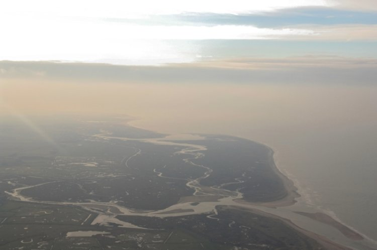 Scolt Head Island and North Norfolk Coast from 10000ft
