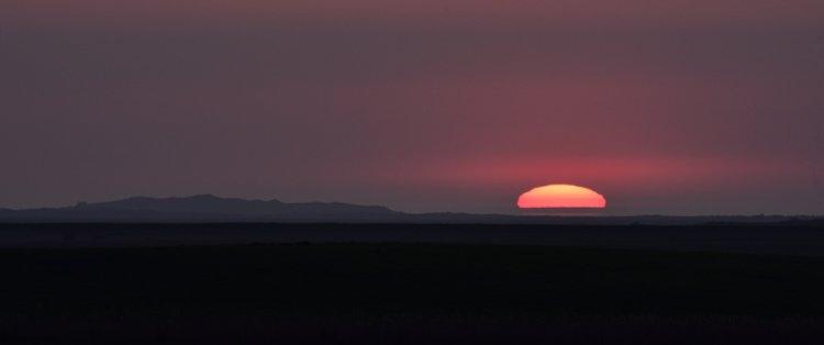 Sunset over Scolt Head Island