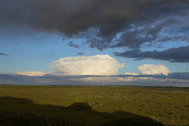 Storm clouds brewing from the Hut on Scolt Head