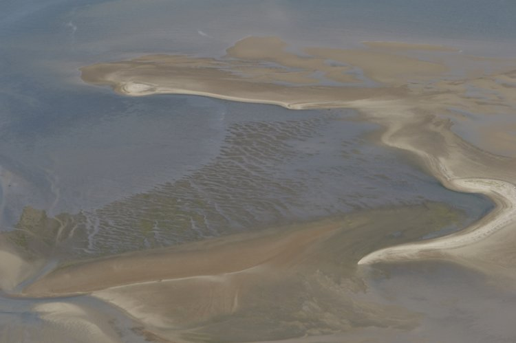 Aerial of Sandflats North Norfolk