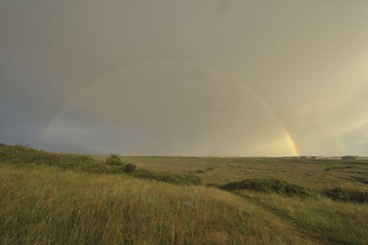 Rainbow from the Hut