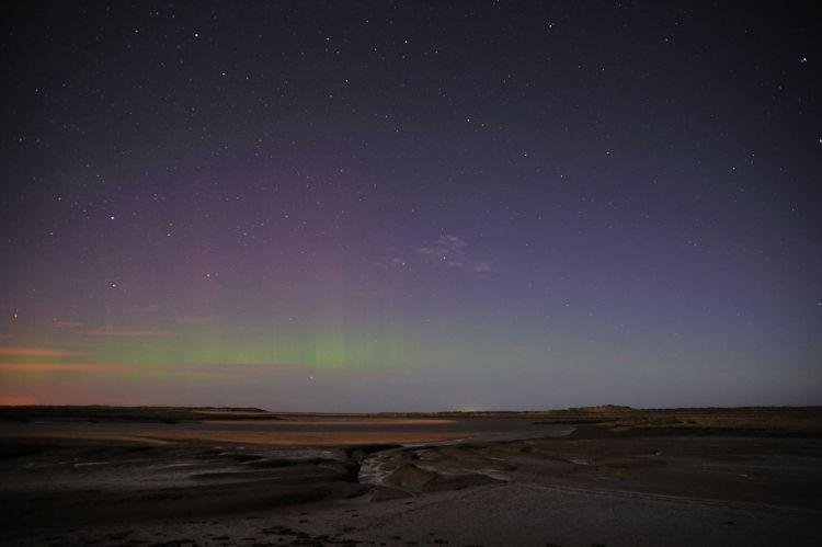 Aurora Borialis Northern Lights over Scolt and Gun Hill