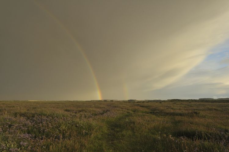 Double rainbow from the Hut