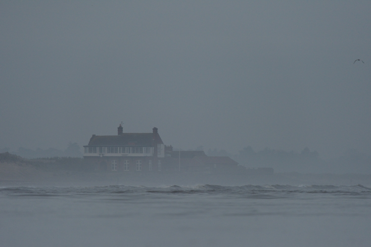 Brancaster Golf Clubhouse from the island