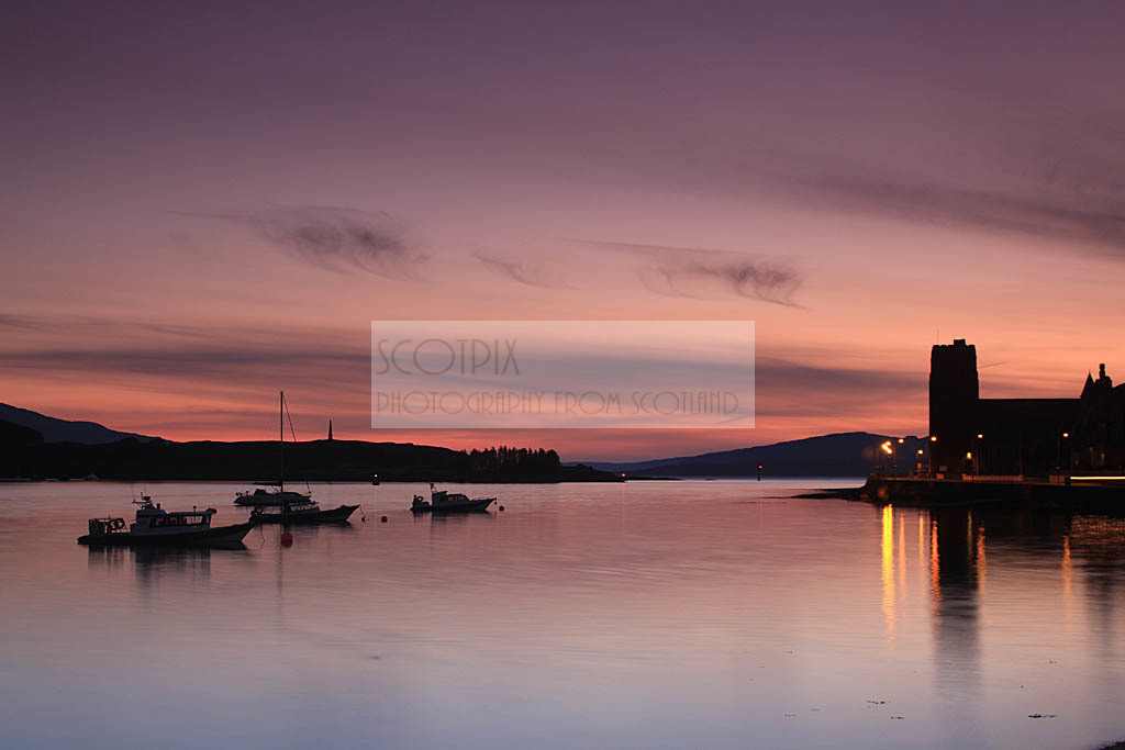 Oban Bay sunset
