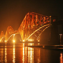 Forth Bridge by night