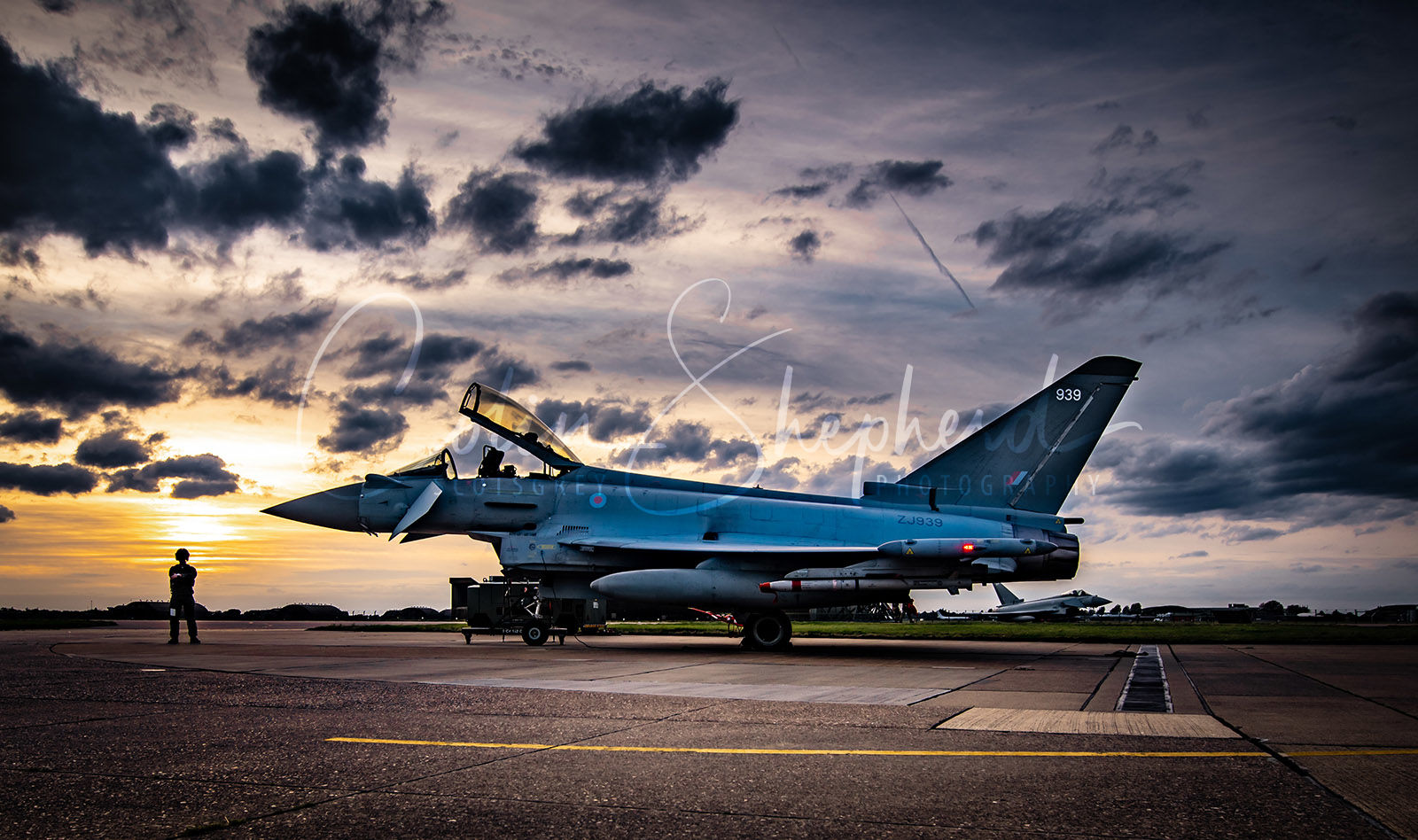 Eurofighter Typhoon FGR4 at Sunset, RAF Coningsby, Lincolnshire