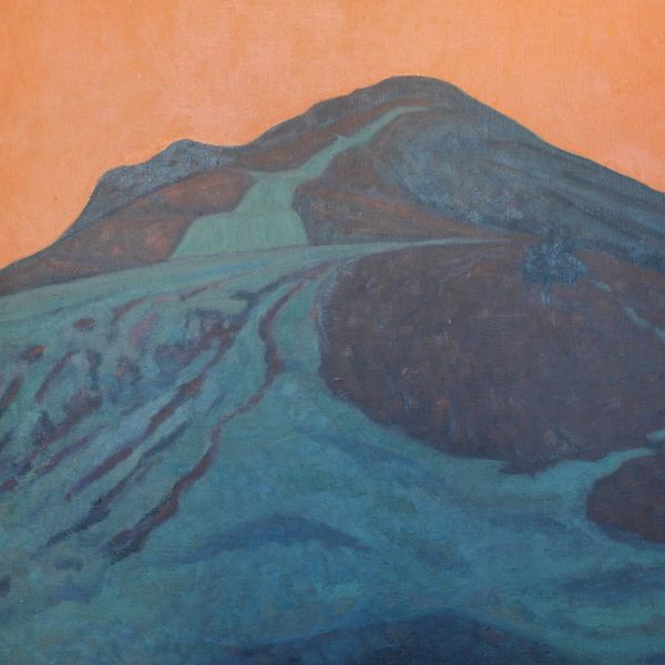 Mynydd Llangorse Green Red Orange (Oil on canvas)