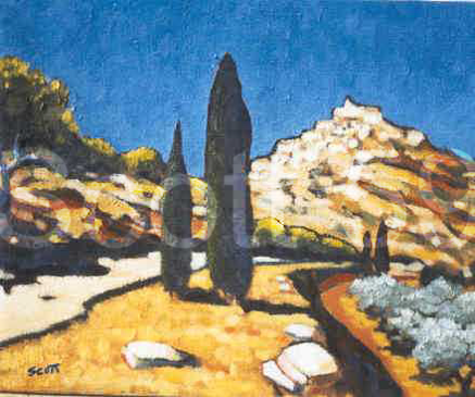 The Road to Gordes (Oil on Canvas) SOLD