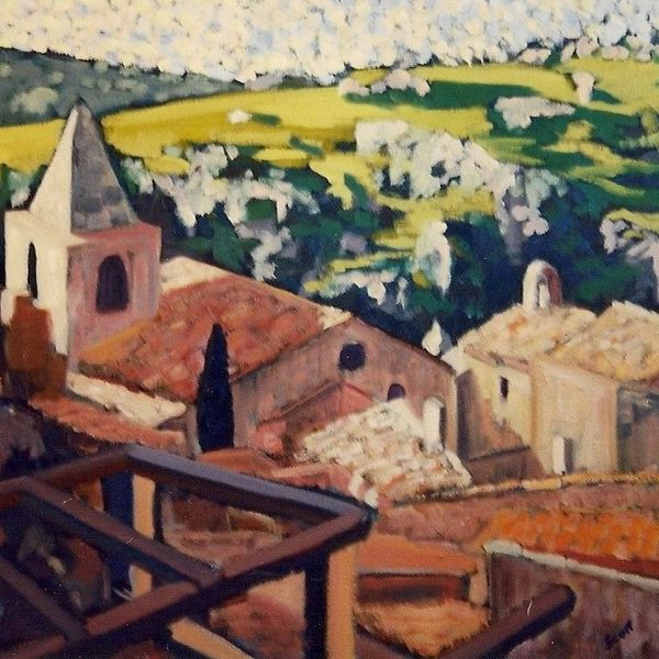 Les Baux de Provence (Oil on Canvas)