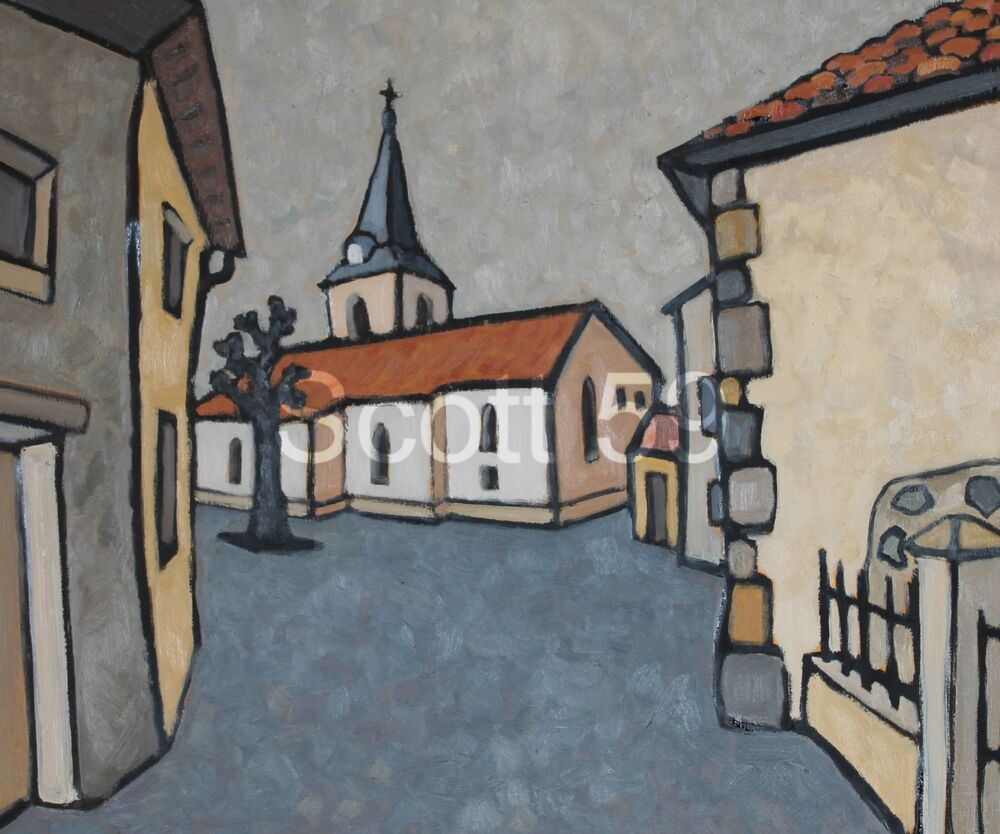 Fix-Saint-Geneys (Oil on board, 61 x 51cm)