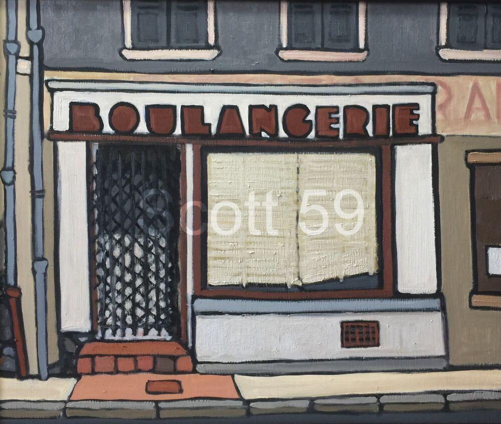 Boulangerie, Craponne sur Arzon (Oil on board, 61 x 51cm)