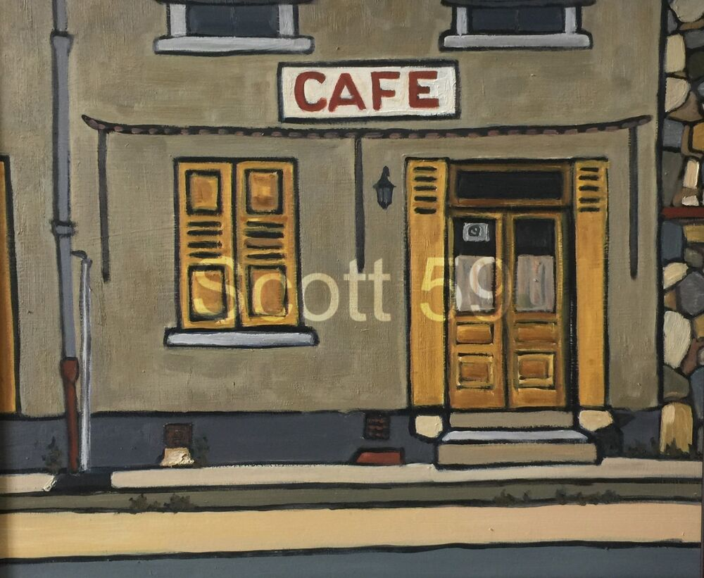 Cafe, Sembadel la Gare (Oil on board, 61 x 51cm)
