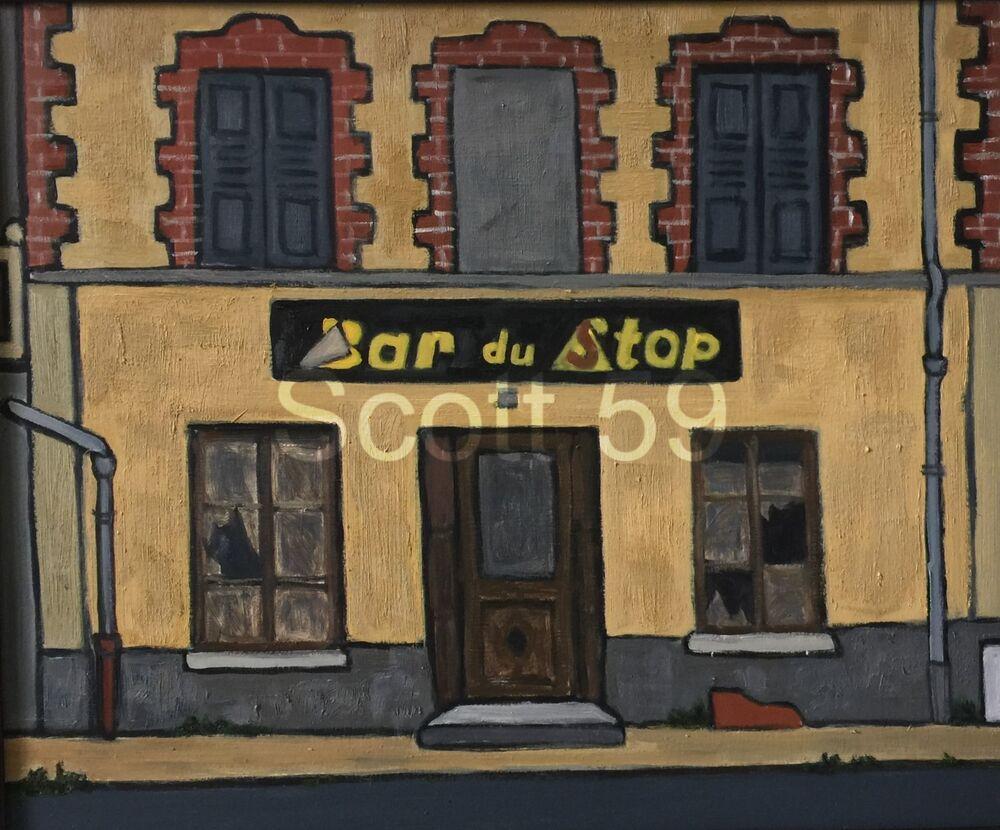 Bar du Stop, Sembadel (Oil on board, 61 x 51cm)
