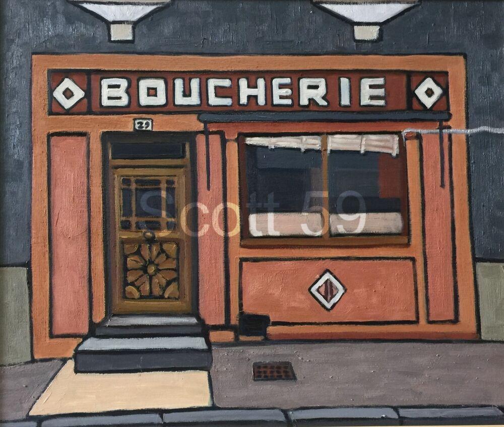 Boucherie, Allegre (Oil on board, 61 x 51cm)