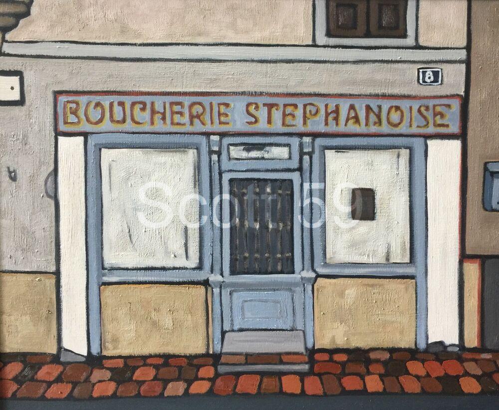 Boucherie Stephanoise, Craponne sur Arzon (Oil on Board 61 x 51cm)