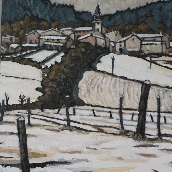 Winter 2019, Vernassal #3 (Oil on board 51cm x 61cm)
