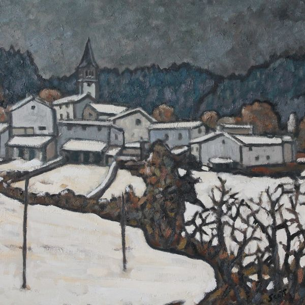 Winter 2019, Vernassal #2 (Oil on board 61cm x 51cm)