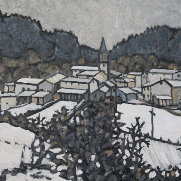 Winter 2019, Vernassal #5 (Oil on board) SOLD