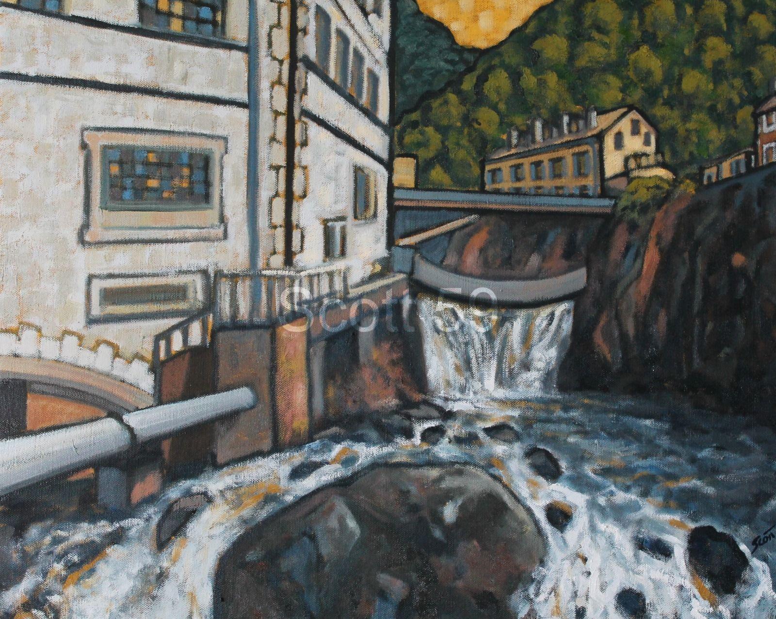 Thiers, Usine (Oil on canvas 82cm x 65cm)
